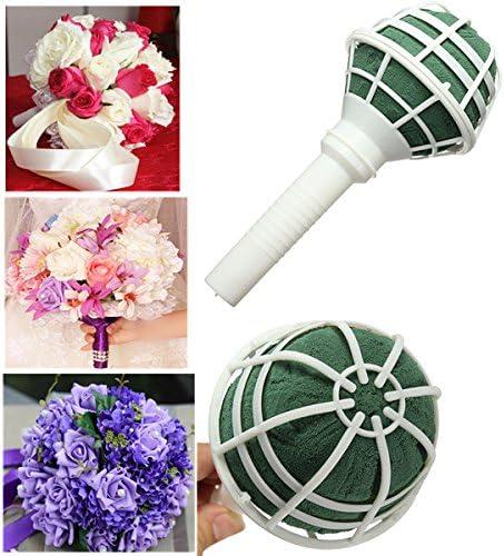 Wedding Party Bridal Flower DIY Decoration Bouquet Foam Holder Handle