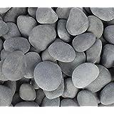 "Rainforest 1"" to 2"" Small Margo Decorative Landscape Mulch Rock Feature Beach Pebble, 30 lb, Mexican Grey"
