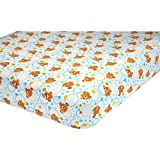 Beautiful Blue Green Orange Finding Nemo Fitted Crib Sheet, Disney Themed Nursery Bedding, Infant Child Fish Clown Stars Bubbles Movie Animated Cartoon Pixar Sea Ocean Water Cute Adorable, Polyester