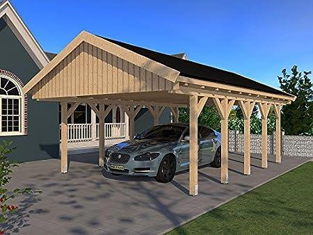 Carport LE Mans VI - Tejado para montar (500 x 800 cm, madera ...