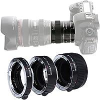 Micnova KOOKA KK-C68 Pro Auto Focus Macro Extension Tube Set for Canon EOS EF & EF-S Mount 5D2 5D3 6D 650D 750D With 12mm 20mm and 36mm Tubes
