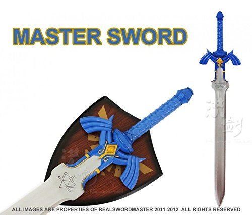 Amazon.com : Swordmaster - 1:1 Full SIze Links Master Sword from the Legend of Zelda with Plaque Brand New : Sports & Outdoors