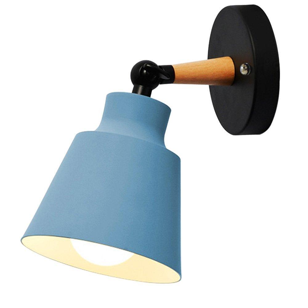 Wandleuchten nordischen Wandleuchte Lampen Macaron Edison Kupfer Lampe Halter Ganglampen Korridor Lampe Nacht Leselicht E27 (Farbe: Schwarz) HOREVO