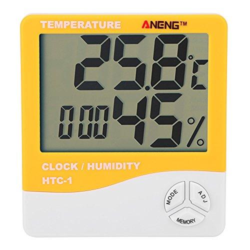 ANENG-HTC-1-LCD-Digital-Thermometer-Hygrometer-Indoor-Temperature-Humidity-Meter-ClockOrange