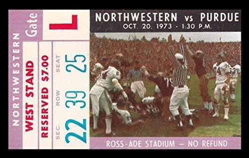 1973 Northwestern v Purdue Football Ticket 10/20/73 (Northwestern Purdue Football)