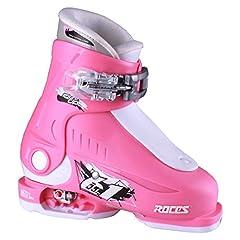 Roces 2018 Idea Adjustable Deep Pink/White Kids Ski Boots 16.0-18.5
