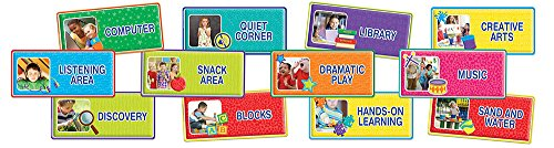 Eureka Teacher Supplies Color My World Back To School Classroom Area Signs, 12 pcs (Center Signs School)