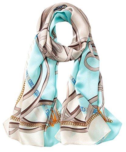 Ete Chale En Bleu Grand Impression Femme Printemps Soie Hiver Coloré 5 Foulard Uv All Longue 4 Anti Echarpe qxSWUO