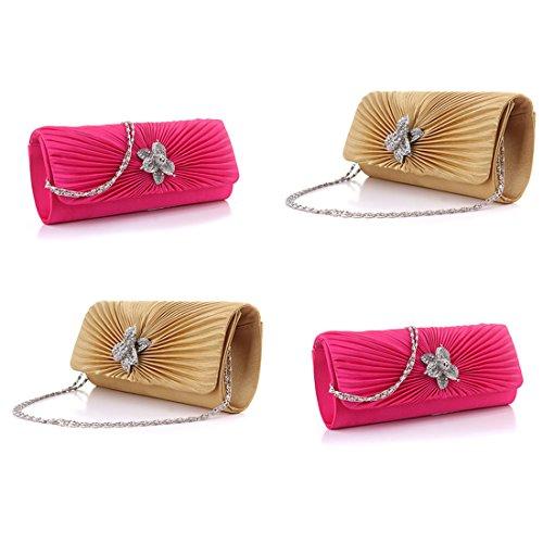 HT Evening Bag - Cartera de mano para mujer rosa (b)