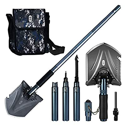 Zenph Camping Shovels, Military Folding Shovel Survival Shovel Folding Multi-Purpose Camping Shovel for Hiking Backpack Gardening Tools, Emergency with Pickax Carrying Bag-88CM/34.65inch by Zenph