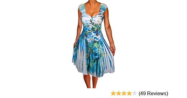 Turquoise and White Cocktail Dress
