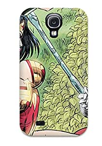 7691073K18826448 Case Cover Protector Specially Made For Galaxy S4 Wonder Woman Fighting