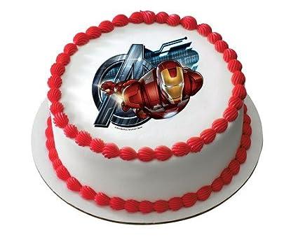 Amazoncom The Avengers Iron Man Edible Frosting Image Cake