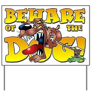 "Beware Of The Dog! Yard Sign - 18 x 24"""