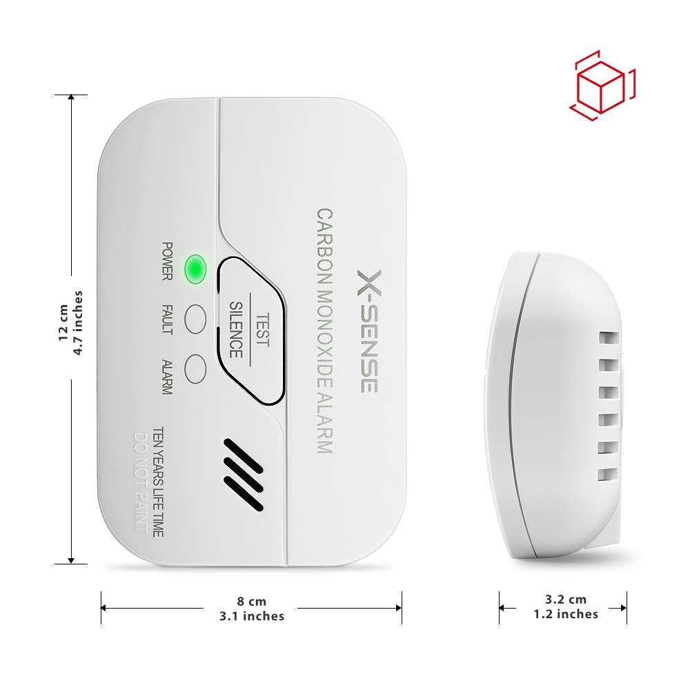 X-Sense Detectores de Monóxido de Carbono con Batería con Pantalla: Amazon.es: Industria, empresas y ciencia