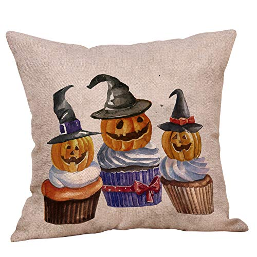 ow Cases Linen Sofa Pumpkin Ghosts Cushion Cover Home Decor for Living Room Sofa Bedroom Car 18
