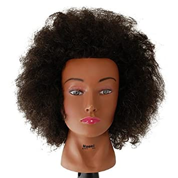 Remarkable Amazon Com Budget Naomi Afro Manikin 20Quot Brown By Celebrity Short Hairstyles For Black Women Fulllsitofus