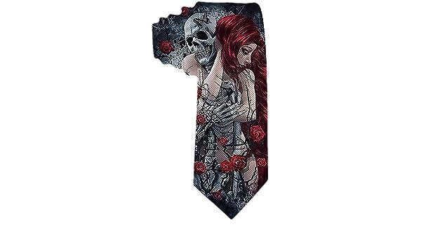 Mujer de pelo rojo gótico para hombre con esqueleto de calavera y ...