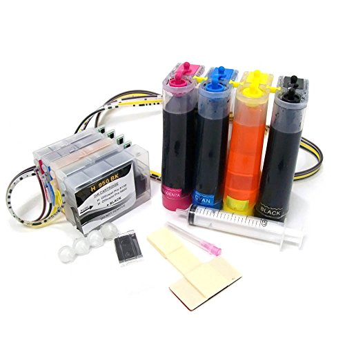 CISinks Continuous Ink Supply System CISS for HP 950 951 Printers - Officejet Pro 276dw 251dw 8100 8600 8610 8620 8630 - HP950 HP951 CIS