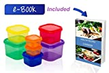 Portion Control Containers kit, BONUS: HEALTHY COOKING RECIPES eBOOK INCLUDED! 7 Pieces, Meal Planning for Balance Nutrition,for Adults And for Kids, Full Grocery Shopping Guide, Multi Colored