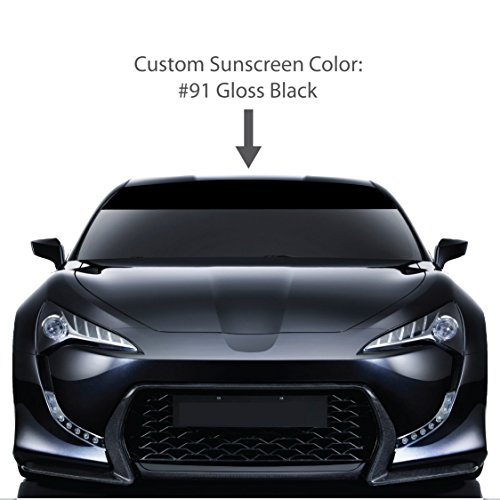 shield Sun Visor Screen. / GLOSS BLACK / Vinyl Stripes & Decals. / Custom Made for: Cars, Trucks, Auto, Vehicles, & Vans. / universal sticker stripe decal. / By 1060 Graphics. ()
