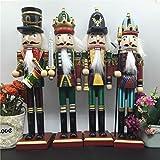 MAUBHYA 30cm Wooden Nutcracker Doll Soldier Vintage Handcraft Decoration Christmas Gifts