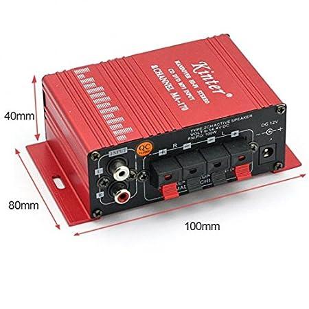 Kinter MA-170 entrega Hi-Fi de Audio estéreo Mini amplificador de 2 canales: Amazon.es: Electrónica