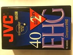 JVC 2 HOURS EXTRA-High-Grade VHS-C Videocassette - Single by JVC