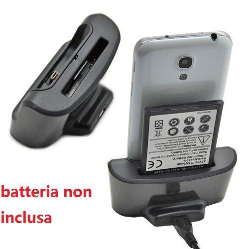 USB Sync Cargador carga estación muelle+cargador de batería para Samsung Galaxy S4 Mini i9190