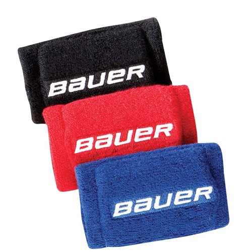 "Bauer Hockey Slash Protection 4"" Wrist Guards, 2 Pack (Red)"