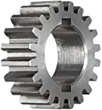 "Boston Gear GB32 Plain Change Gear, 14.5 Degree Pressure Angle, 16 Pitch, 0.750"" Bore, 32 Teeth, Steel"