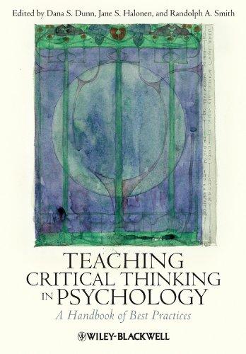 Teaching Critical Thinking in Psychology: A Handbook