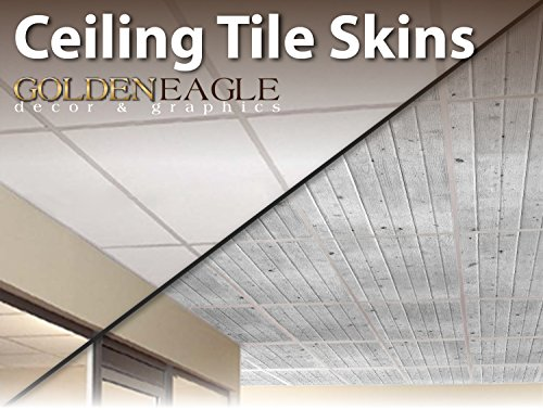 2x4 Glue Up Ceiling Tile Skin - White Washed Knotty Pine