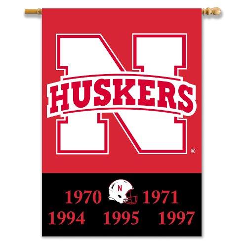 (NCAA Nebraska Cornhuskers Champ Years 2-Sided Banner with Pole Sleeve, 28x40-Inch )