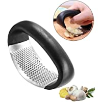 OZSTOCK Stainless Steel Garlic Press Crusher Rocking Rocker Mincer Squeezer Home Kitchen