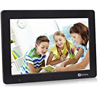 Arzopa 12.1 inch WideScreen Digital Photo & HD Video 1080p Frame Hi-Res 1280x800 with Motion Sensor Multifunction Advertising Player Support MP3 MP4 Video Clock Calendar (12inch Black)