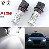 audi a4 b8 headlight bulbs - 2x Projector Len P13W 80W 6000K White CREE LED Bulbs For Audi A4 Q5 Daytime Running Lights DRL