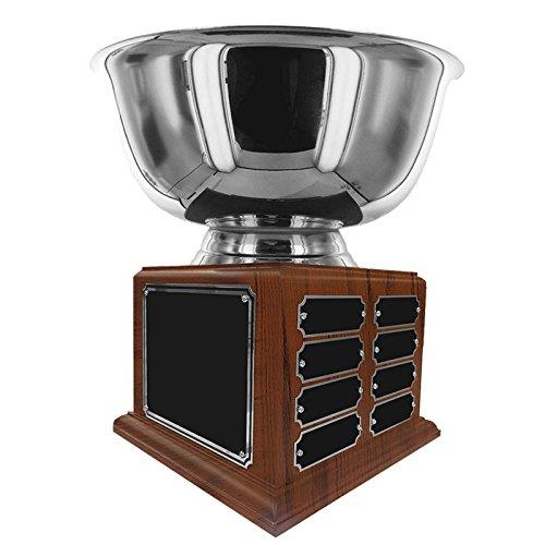 カスタマイズ可能な12インチ直径ステンレススチールPaul Revere Trophyボウルwith 16名プレート, Includes Personalization B078JV7424