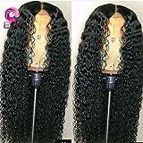8A pelucas llenas brasileñas del pelo humano del cordón mojadas onduladas Beyonce 150density peluca llena del cordón pelo humano de la Virgen de Gluess para las mujeres negras (20 pulgadas, 150 densidad, peluca llena del cordón)