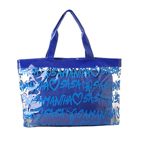 Women's ANDAY Letters Beach Bag White Composite Bags Blue elly Shoulder Transparent pdqdrw7xU
