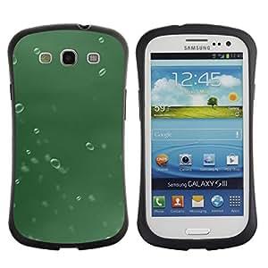 Pulsar iFace Series Tpu silicona Carcasa Funda Case para SAMSUNG Galaxy S3 III / i9300 / i747 , Water Drop Green