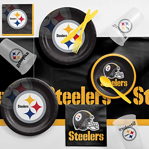 - Creative Converting Pittsburgh Steelers Game Day Party Supplies Kit, Serves 8