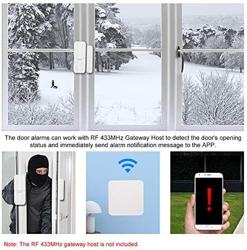 OWSOO 433Mhz Sensor de Puertas y Ventanas Inalámbrico Magnético Alarma Anti-Robo Compatible con RF 433MHz Gateway Host para Sistema de Alarma de Casa Inteligente: Amazon.es: Bricolaje y herramientas