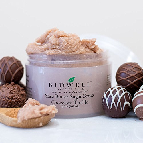 Chocolate Truffle Sugar Scrub with Cocoa Butter and Marshmallow Extract by Bidwell Botanicals LLC