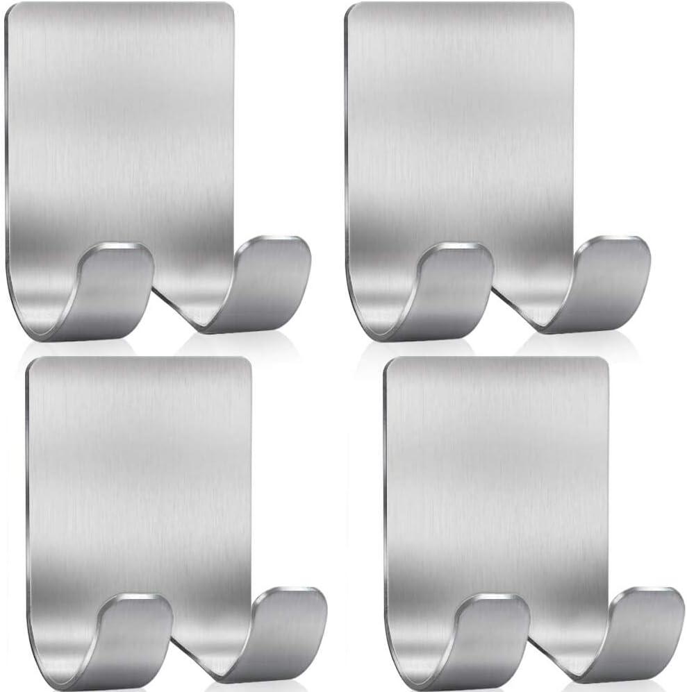 Shower Hook,Stainless Steel Utility Hooks for Towel 2Pcs Shower Razor Holder