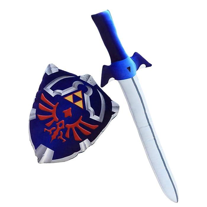 Nooer Plush Pillow Legend of Zelda Master Sword Hylian Shield Toy