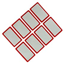 Magnetic Badge RBD Red Strong Write On Name Holder Plate 50x30 mm - Pack of 8