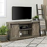 "barn wood tables WE Furniture AZ58SBDGW TV Stand, 58"", Grey Wash"