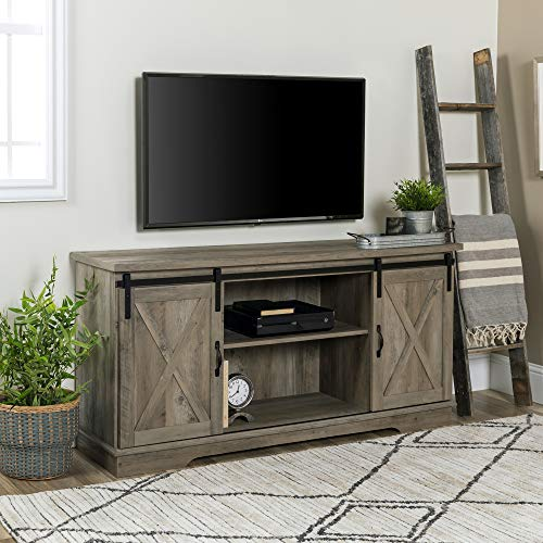 Walker Edison TV Stand Grey Wash