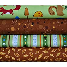 Animal Party Too Earth 4 Fabric Fat Quarters Bundle by Amy Schimler for Robert Kaufman
